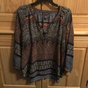 Chelsea & Theodore blouse Xl